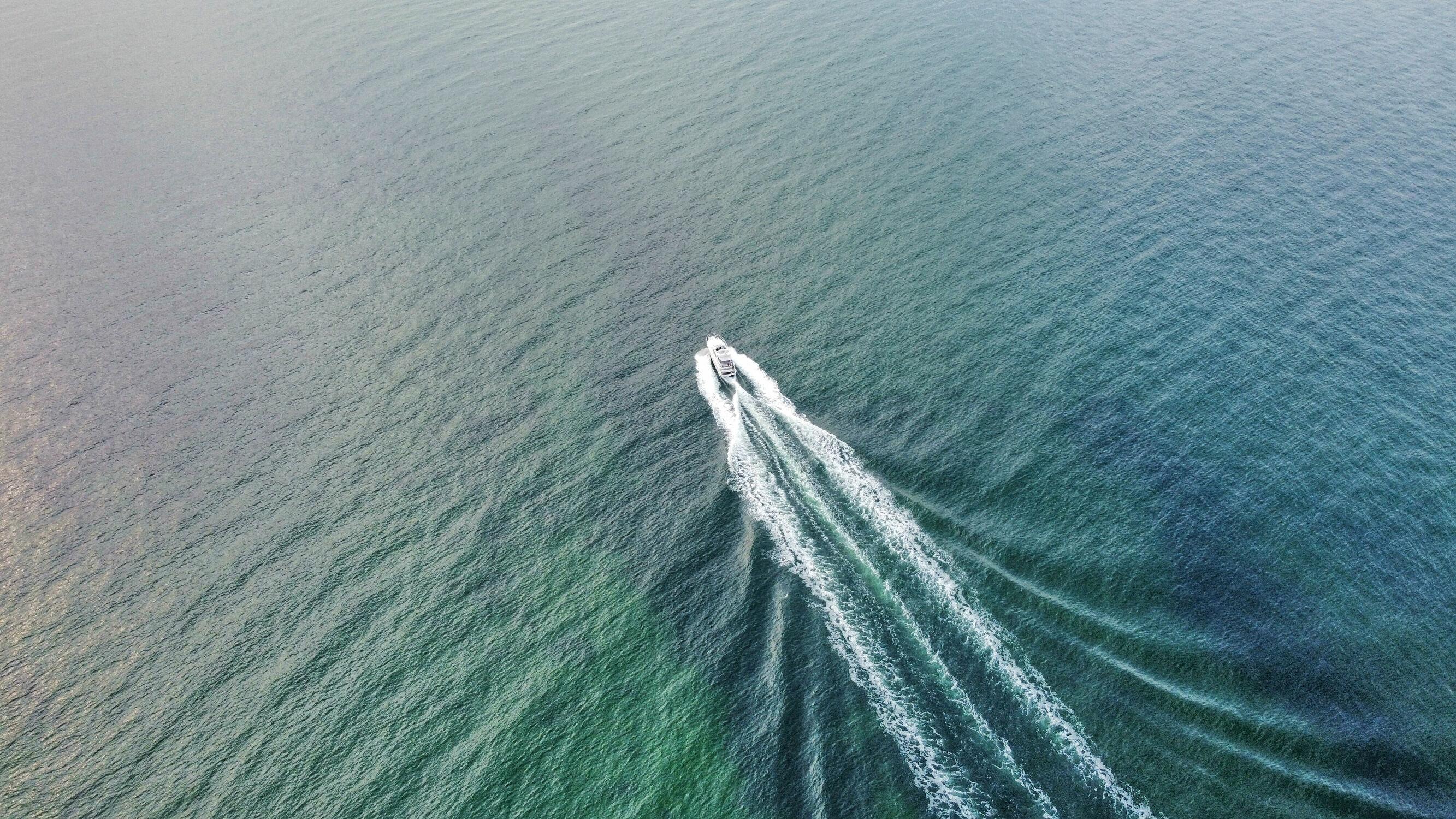 Bild mit Natur, Wellen, Deutschland, Ostsee, Boote, Luftaufnahme