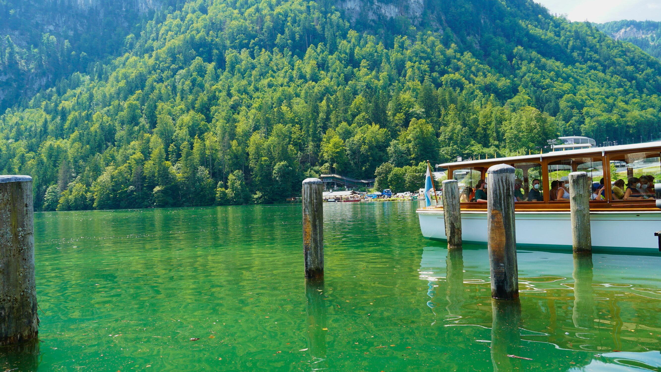 Bild mit Natur, Seen, boot, Boote, Urlaubsbild, Urlaubsfoto, See, königssee