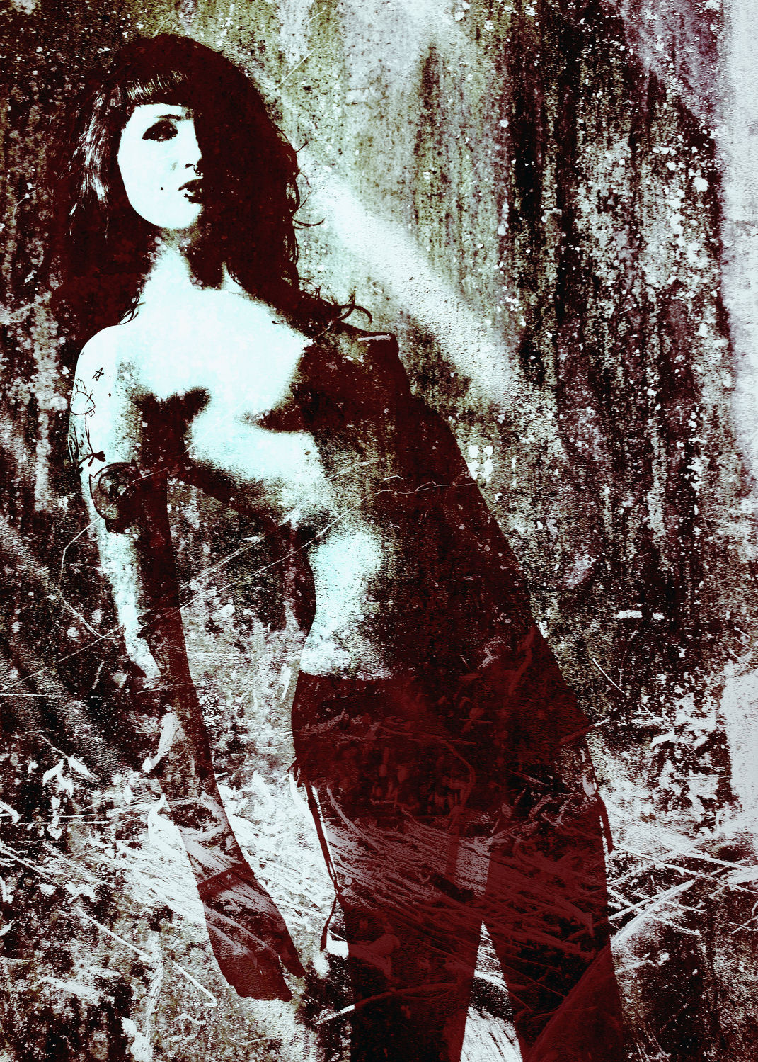 Bild mit nude, Dessous, Fotokunst Art FF77, Fetisch, Erotik, Portrait, Studio, Frau, Aktmodel, Aktfoto, Aktfotografie, erotisch, Frauen, nackt, Sexy, Brust, Erotic, Akt & Erotik, girl
