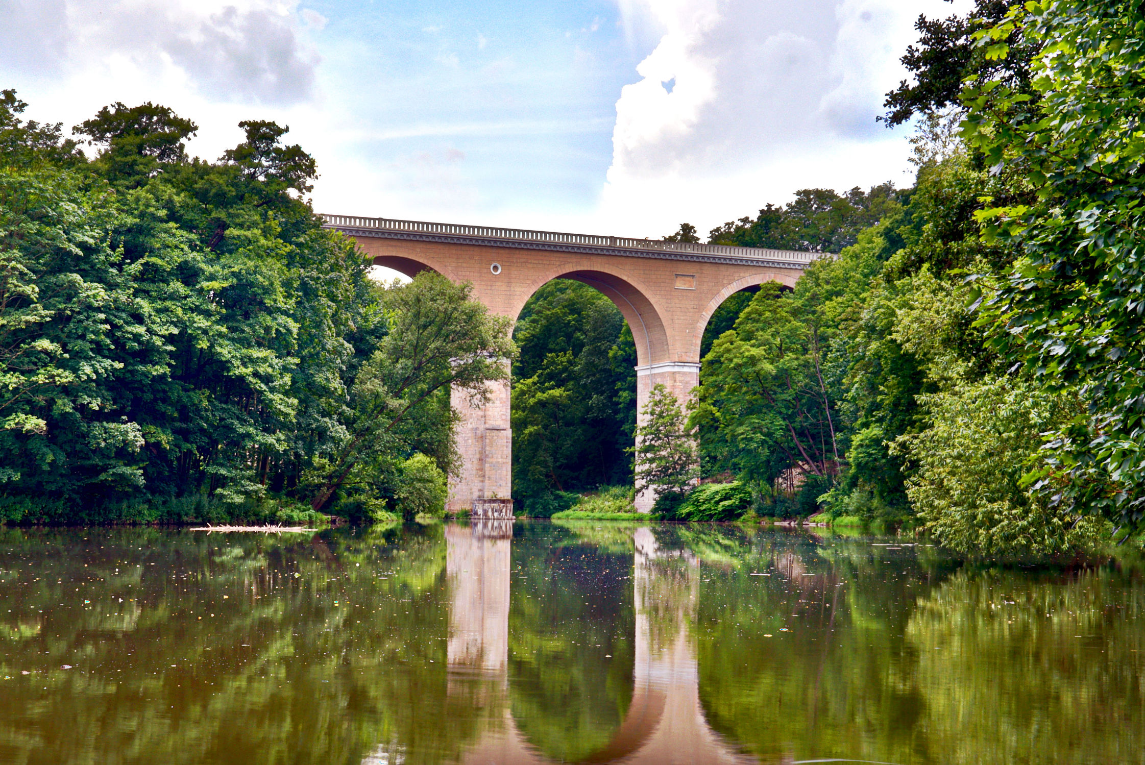 Bild mit Architektur, Bauwerke, Brücken, Landschaft, Görlitz, Brücke, landscape, Oberlausitz, bridge, viadukt