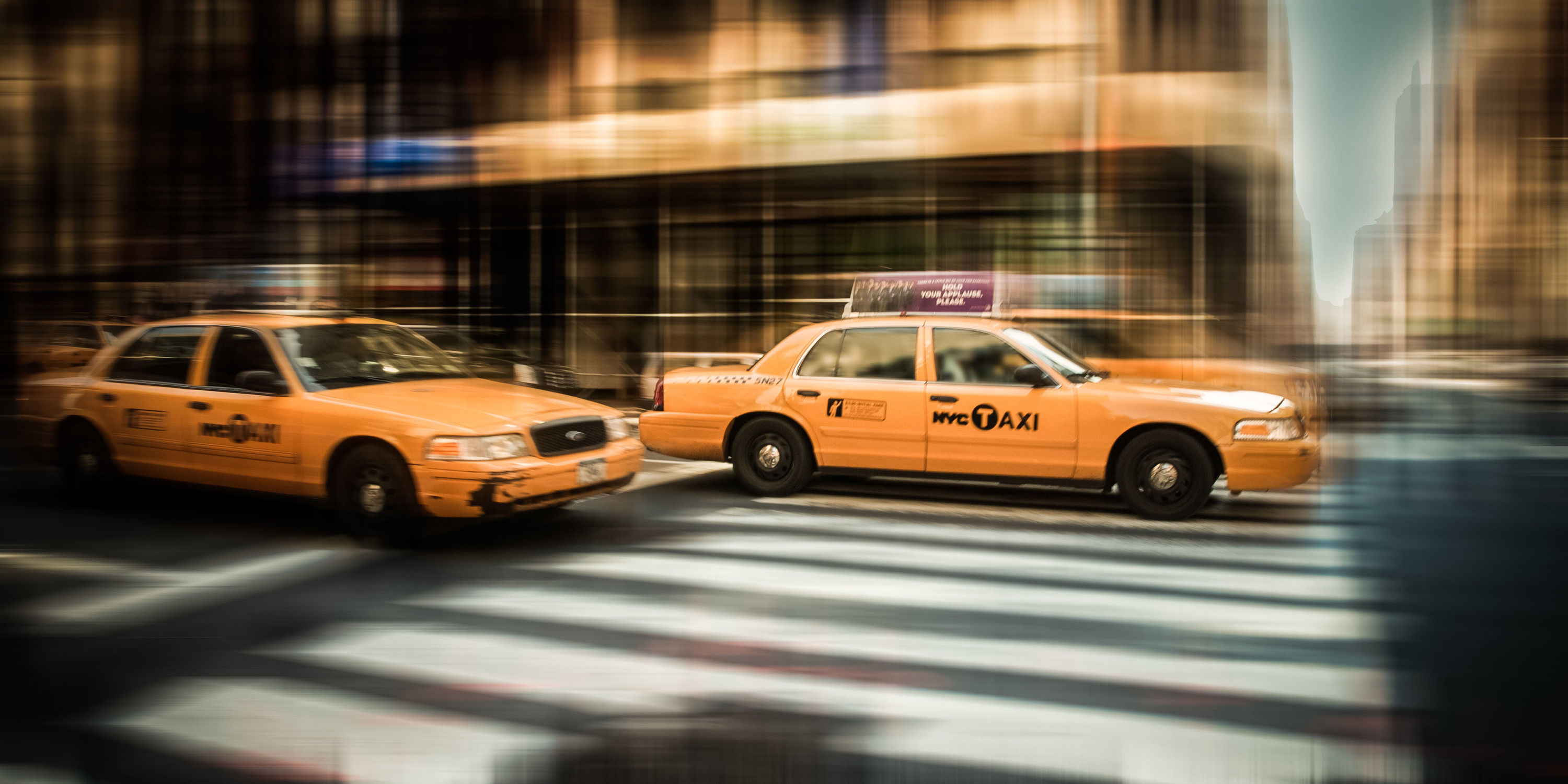 Bild mit Autos, Stadt, New York, USA, Auto, street, Manhattan, Yellow cab, taxi, Taxis, New York City, NYC, Gelbe Taxis, car, cars, cab, gelbes taxi