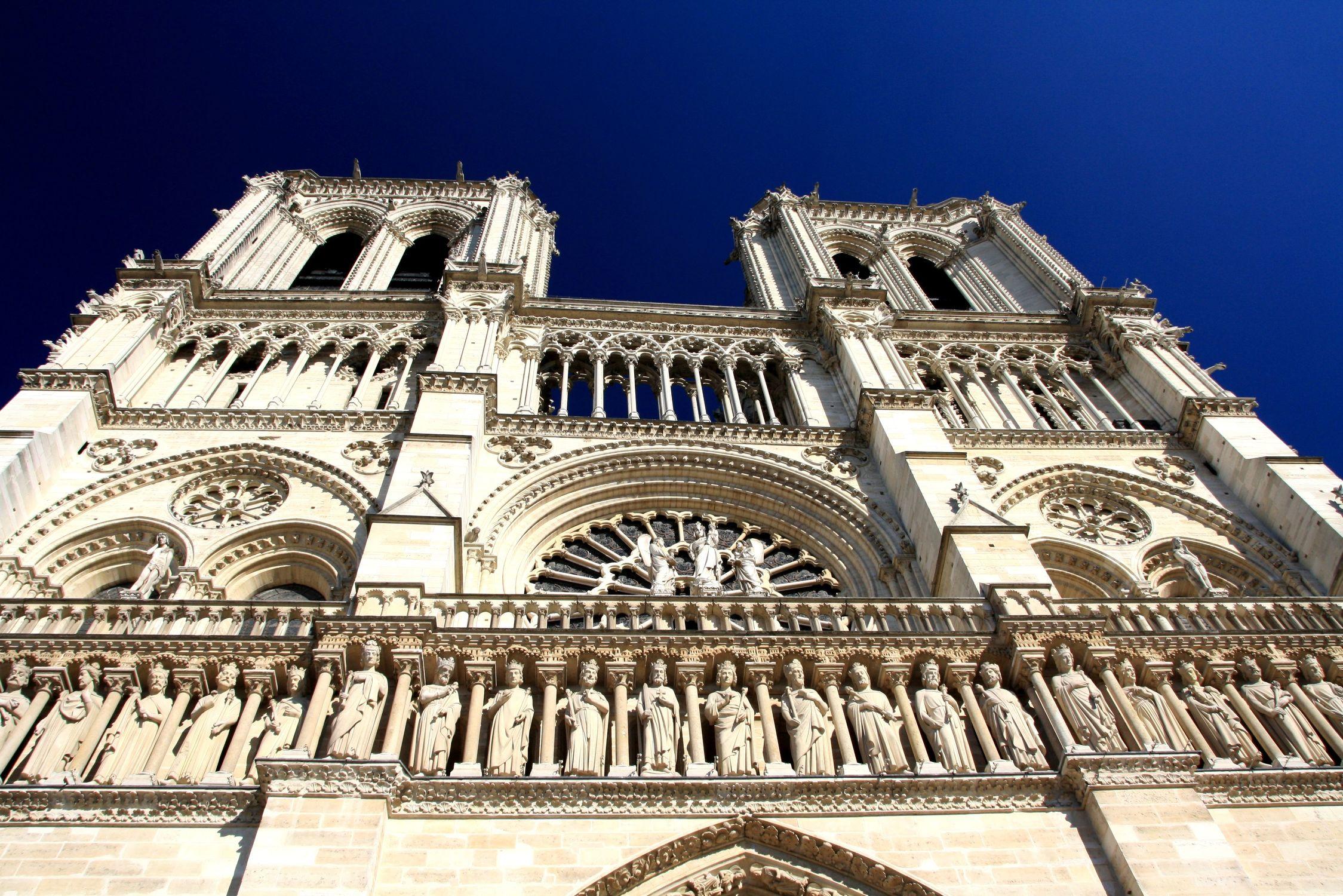 Bild mit Wahrzeichen, Gotisch, Frankreich, Sehenswürdigkeit, Kirche, Reisen, Reisefotografie, Paris, Notre Dame, Kathedrale, Kirchengebäude