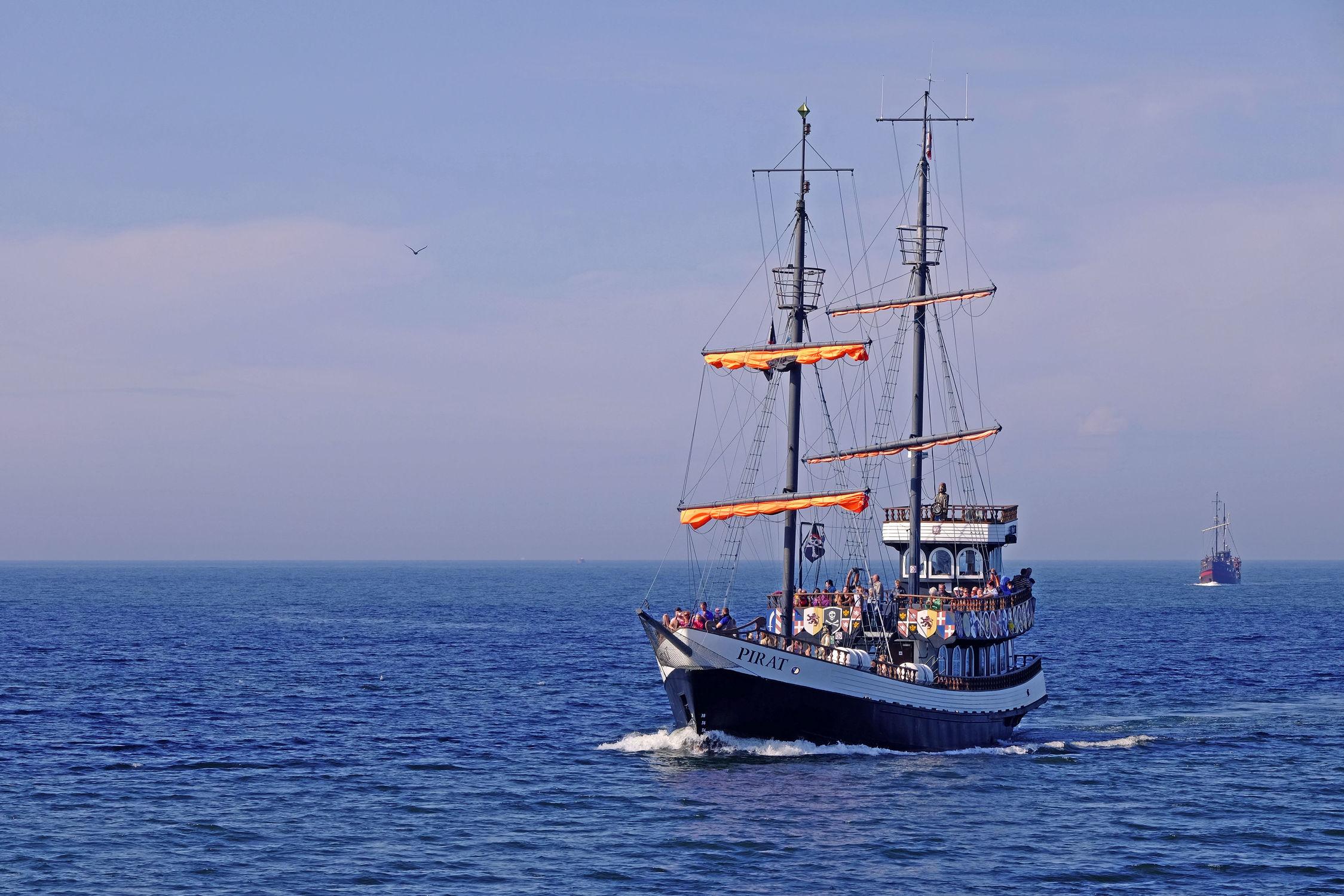 Bild mit Schiffe, Ostsee, Segler, Kolberg, Polen, Pirat, Heimkehr