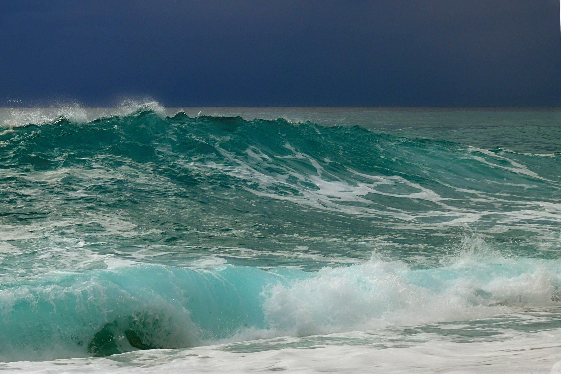 Bild mit Wellen, Urlaub, Türkis, Strand, Meer, Reisen, Wärme, südeuropa, Kreta, Wogen, Südkreta, Ãgäis