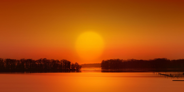 Bild mit Natur, Natur, Wasser, Landschaften, Bäume, Herbst, Sonnenuntergang, Sonne, Baum, Berlin, Panorama, Landschaft, romantik, See, romantisch, Abendstimmung