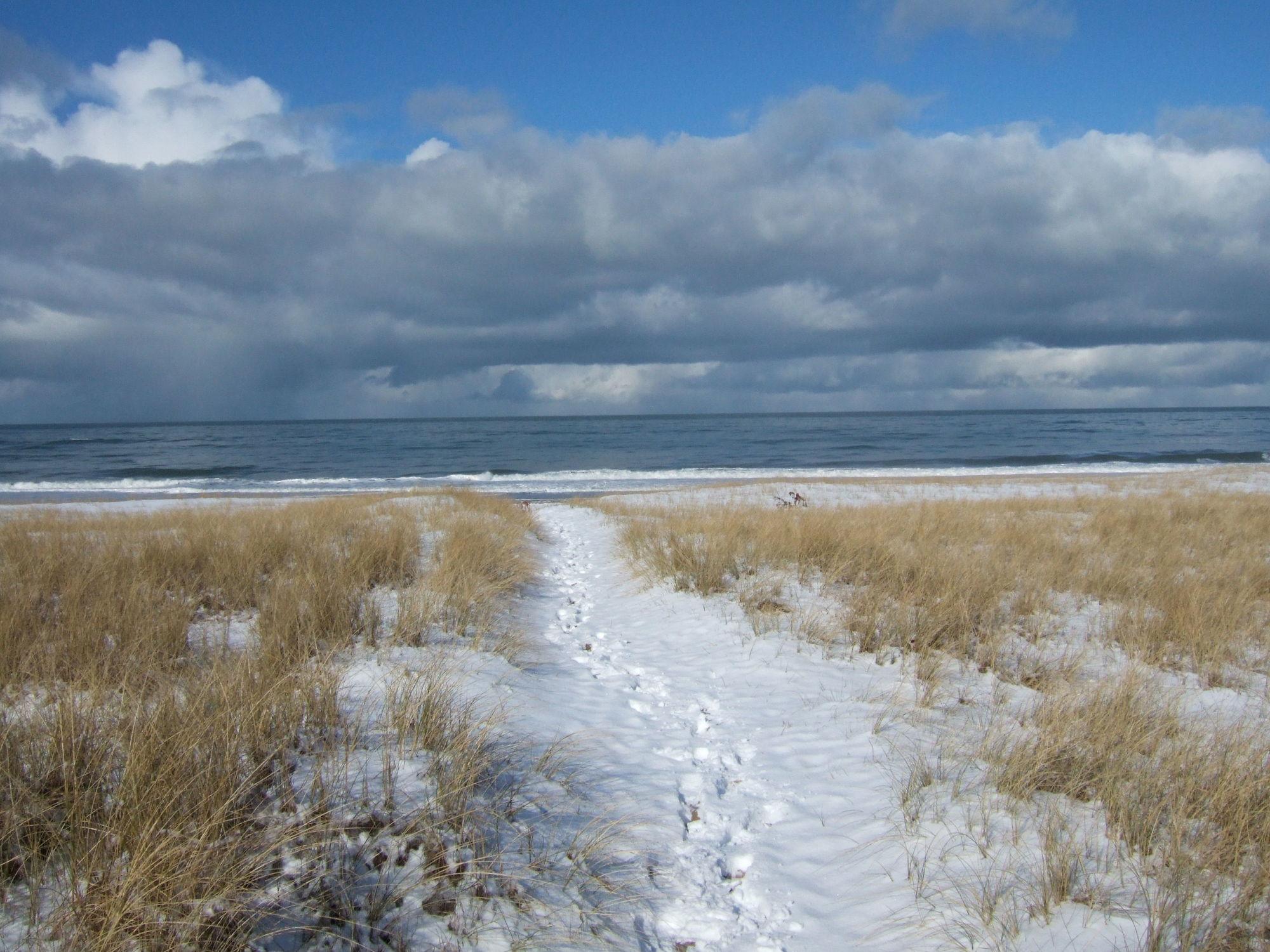 Bild mit Landschaften, Schnee, Sand, Strand, Sandstrand, Landschaft, Düne, Dünen, Dünengras