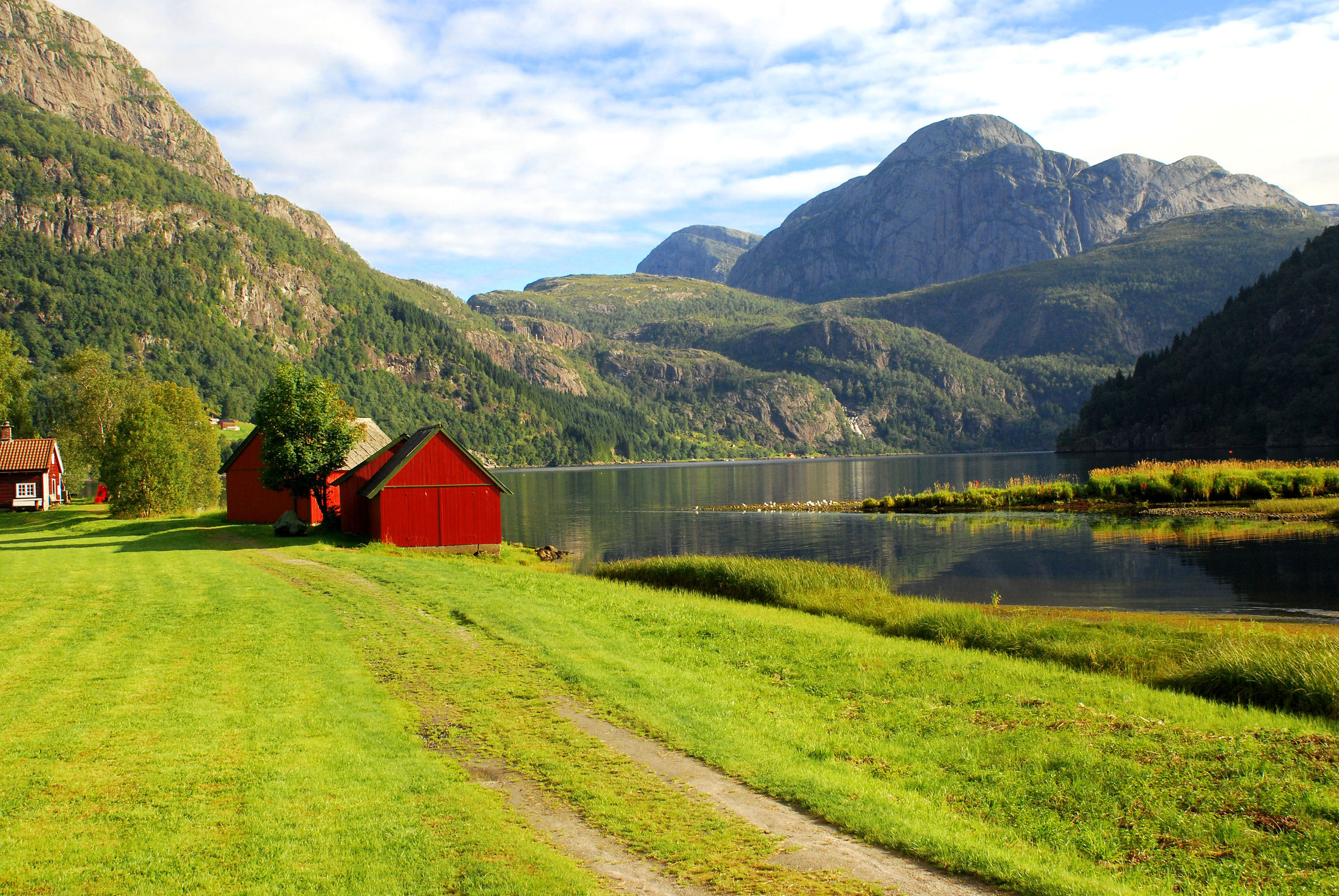 Bild mit Natur, Wasser, Landschaften, Berge, Landschaft, See, Norwegen, berg, Gebirge