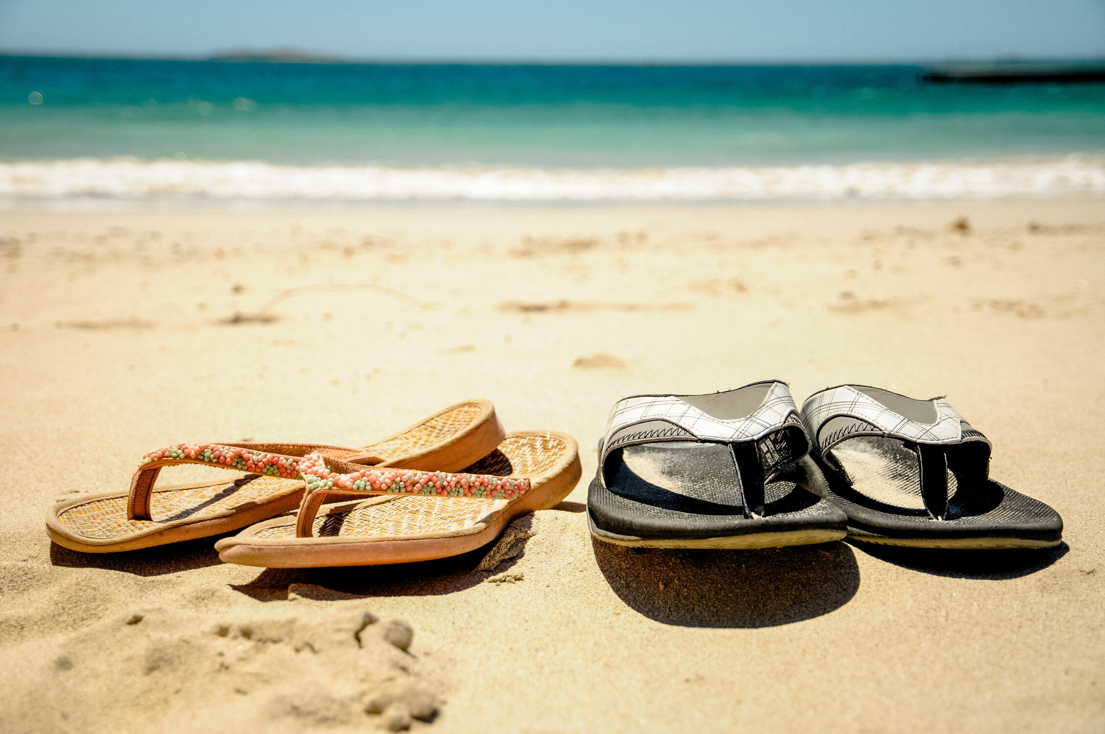 Bild mit Strand, Ferien, Flipflop