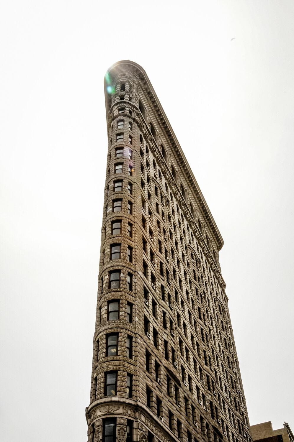 Bild mit Gebäude, New York, Skyline, Flatiron Building