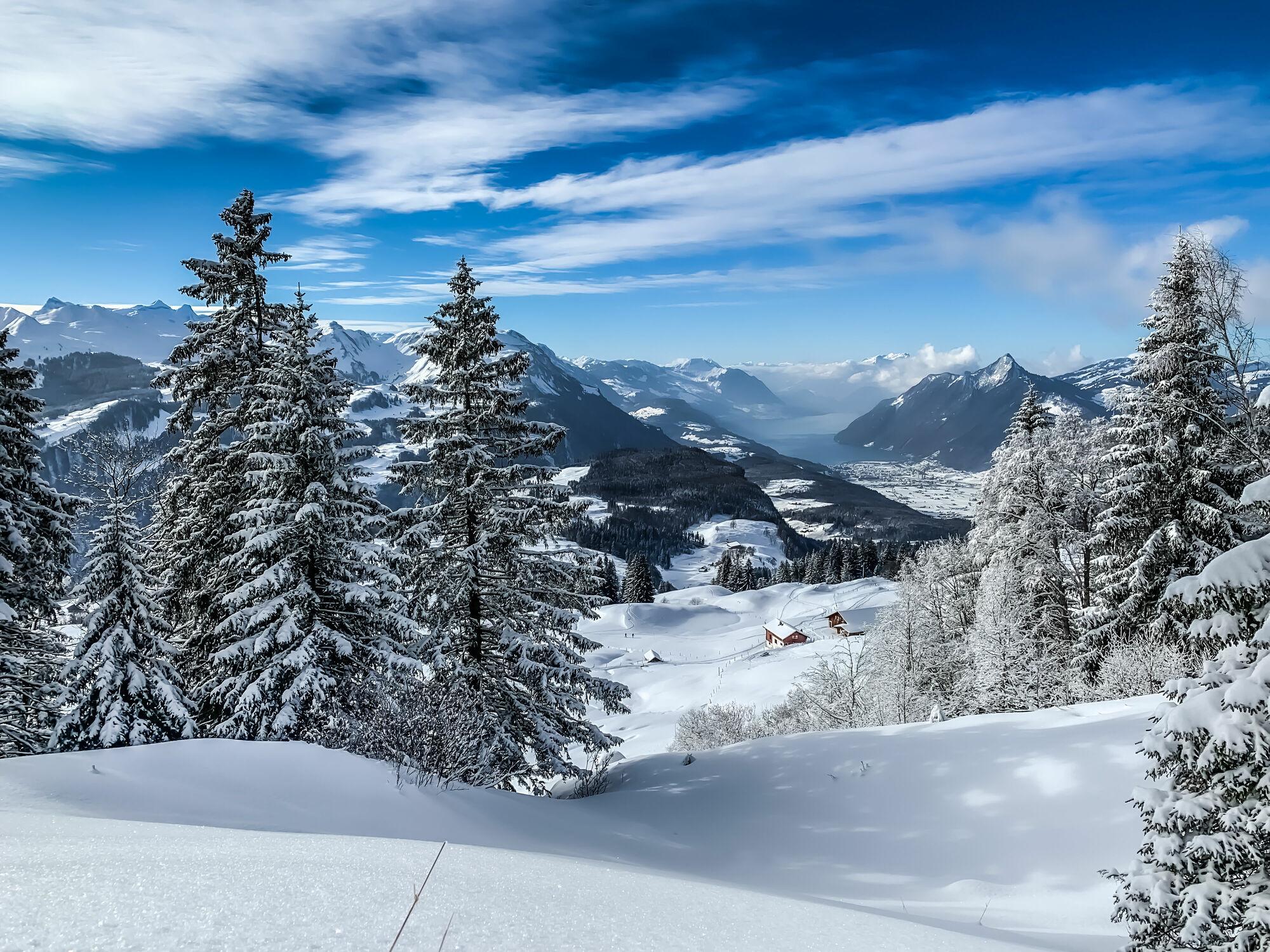 Bild mit Landschaften, Schnee, Landschaftspanorama, Winterlandschaften