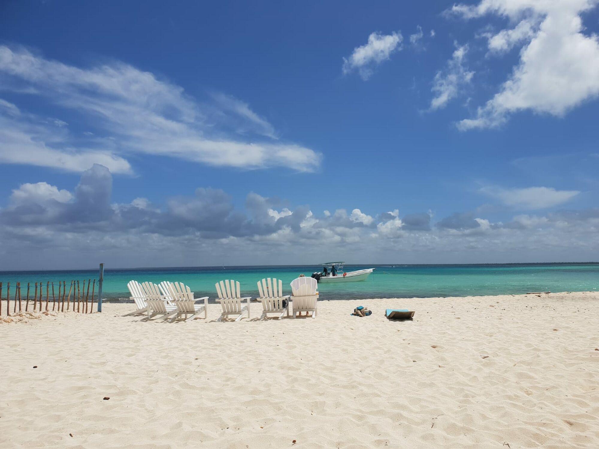 Bild mit Strand, Meer, Dominikanischen Republik, Karibik, Strandurlaub, Badeurlaub