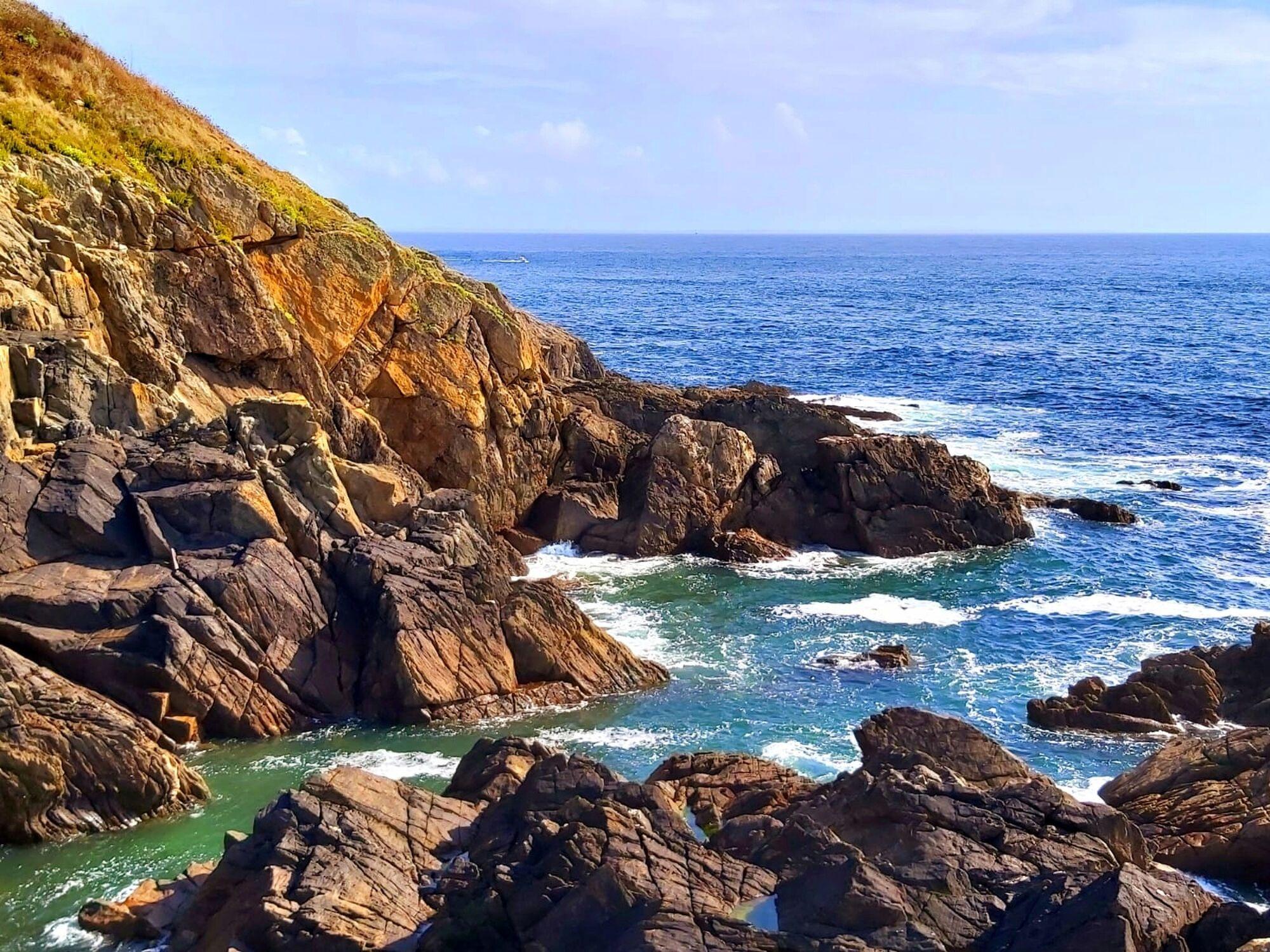 Bild mit Felsen, Meerblick, Entspannung