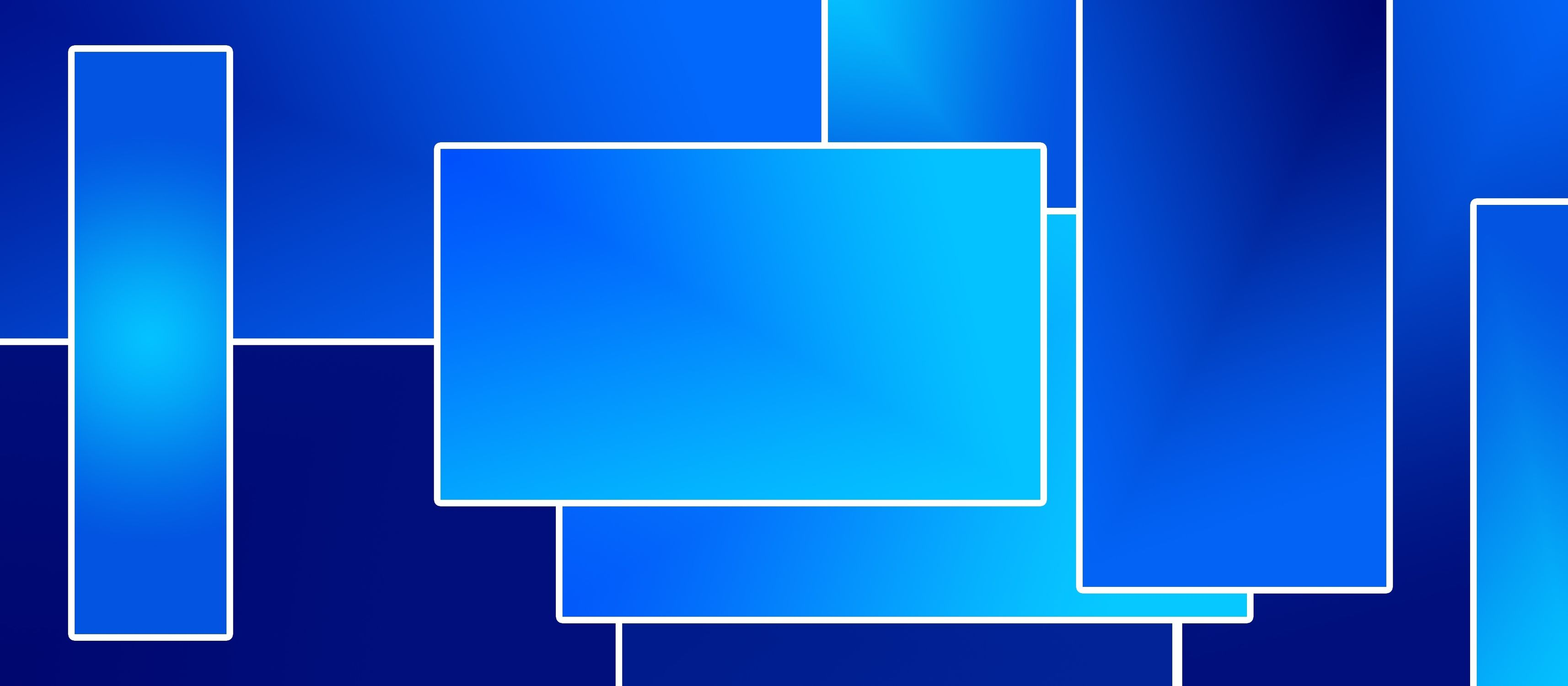 Bild mit Farben, Blau, Kobaltblau, Azurblau, Abstrakt, Abstrakte Kunst, Retro, 70er