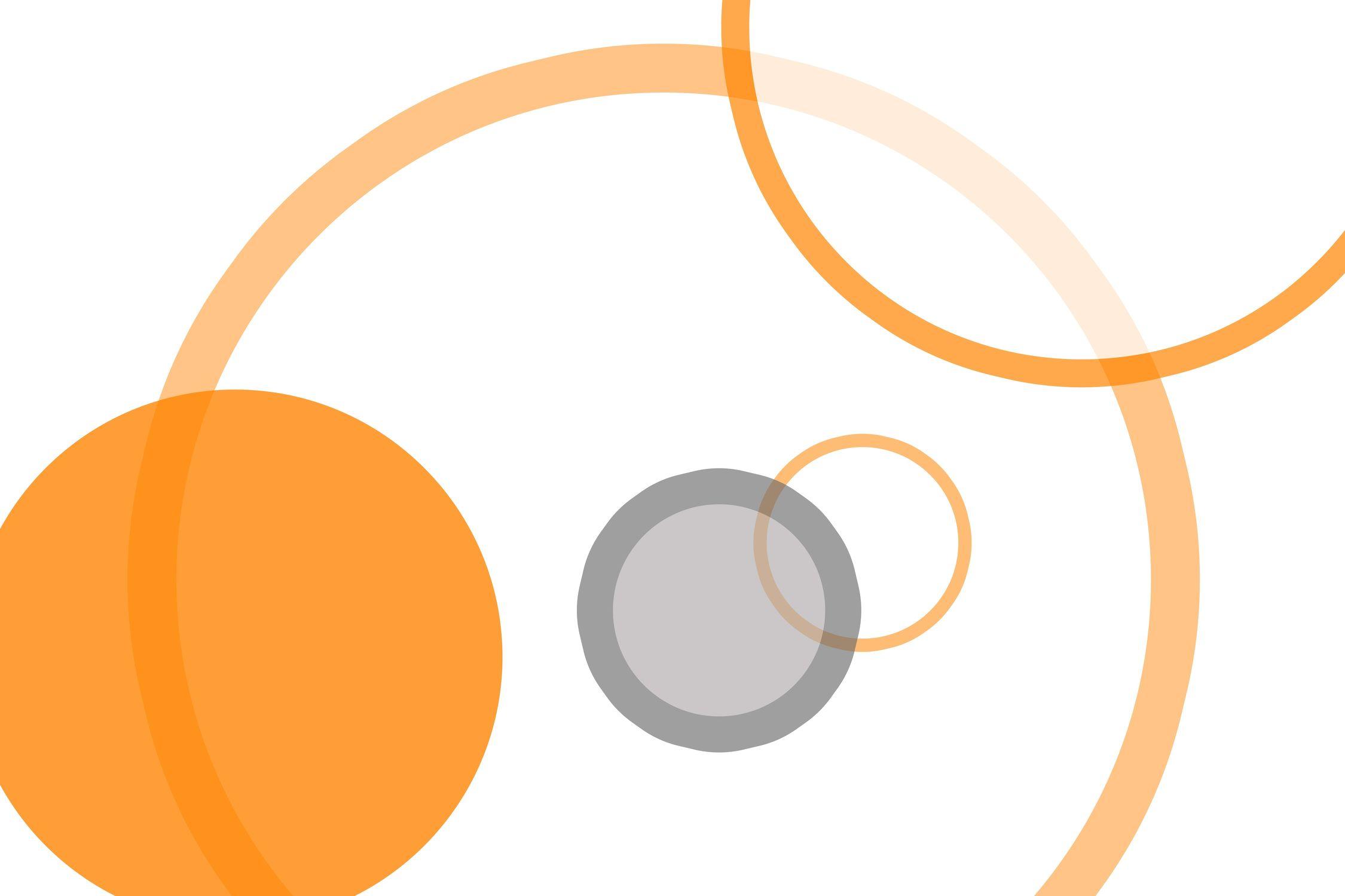 Bild mit Farben, Orange, Gelb, Abstrakt, Abstrakte Kunst, Retro, Retro Art, Retro style
