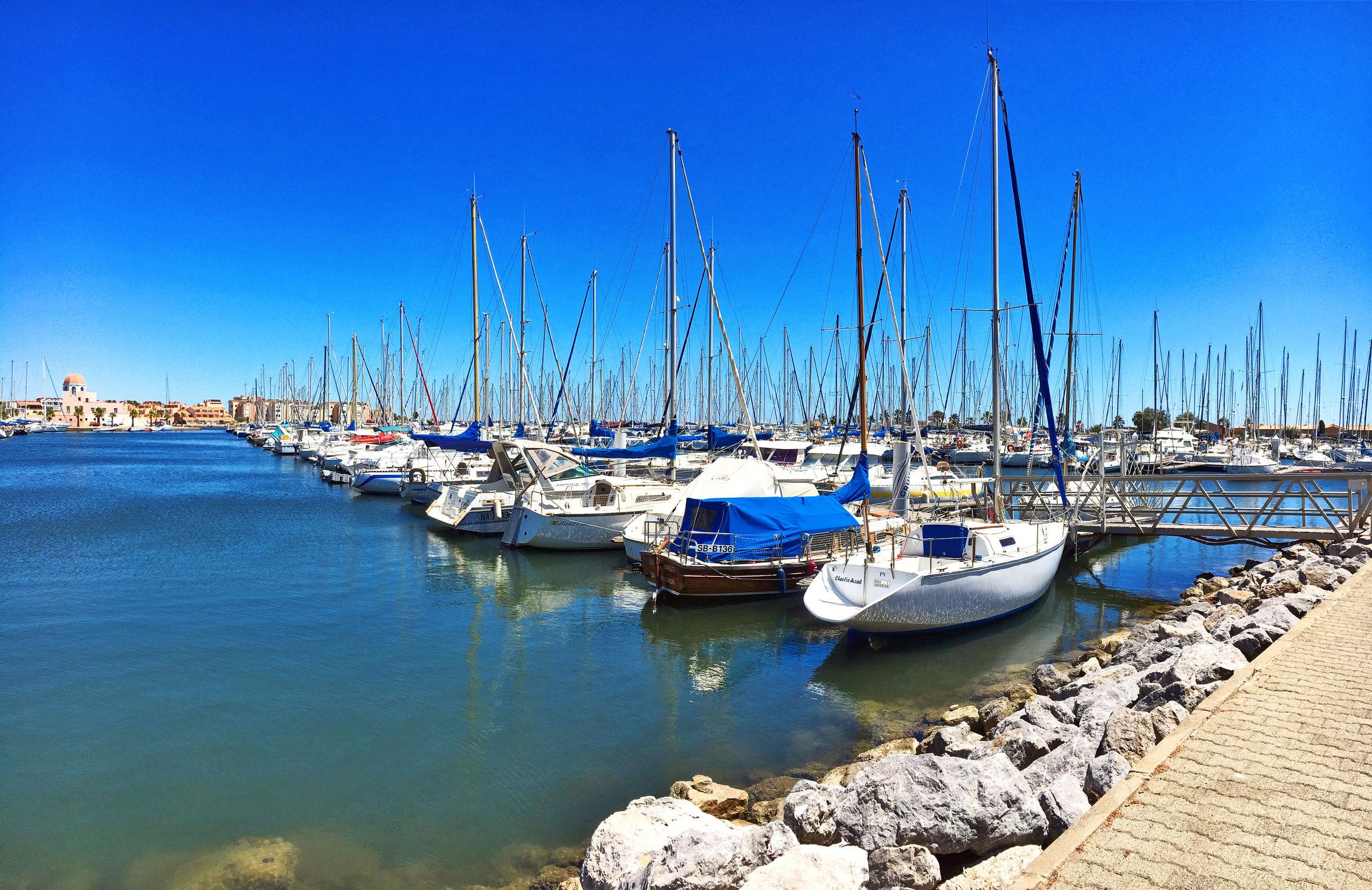 Bild mit Segelboote, Häfen, Frankreich, gruissan plage, Gruissan, Yachthafen