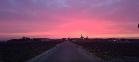 Bild mit Sonnenaufgang