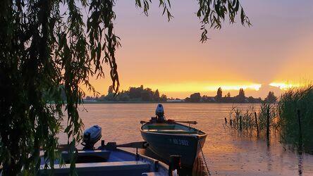 Bild mit Sonnenuntergang, Sunset, Fischerboot