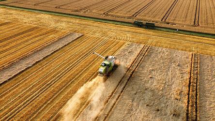 Bild mit Natur, Landschaften, Feld, Ernte, landwirtschaft, Erntezeit, Luftaufnahme