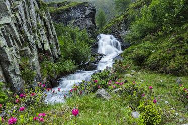 Bild mit Natur, Wasser, Berge, Gewässer, Wasserfälle, Alpenland, Steine, Wasserfall, naturrosen, kanzingbach