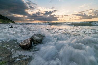 Wellenbrechen an der Ostsee