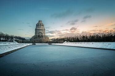 Bild mit Wasser, Winter, Schnee, Sonnenuntergang, Sonnenaufgang, Denkmäler, Landschaft, Historisch, Leipzig