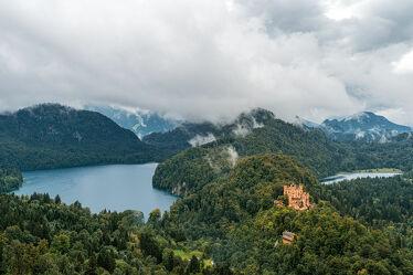 Bild mit Berge, Alpen, Schloss, Wald, Landschaft, Burg, See, Allgäu, Tag, Bayern