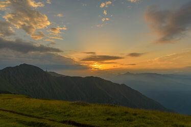 Bild mit Landschaften, Berge, Sonnenuntergang, Landschaft