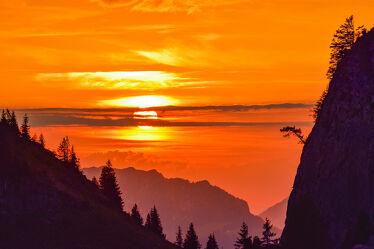 Bild mit Landschaften, Berge, Sonnenuntergänge