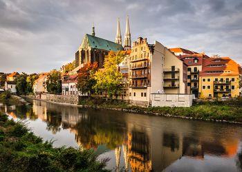 Bild mit Städte, Kirche, Görlitz, Peterskirche, Neisse, Fluss