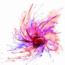 Bild mit Farben, Kunst, Herzen, romantik, Abstrakt, Abstrakte Kunst, art, FARBE, Herz, Liebe, Bild