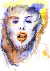 Bild mit Farben, Kunst, Wasser, art, Portrait, FARBE, water, Bild, malen, Aquarell, Gemälde, watercolor, wasserfarben, wasserfarbe