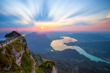 Himmelspforte bei Sonnenuntergang