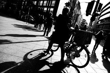 Berlin Straßenfoto in Schwarz Weiß