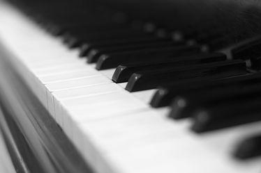 Klavier Tasten Schwarz WeiÃ? Bild