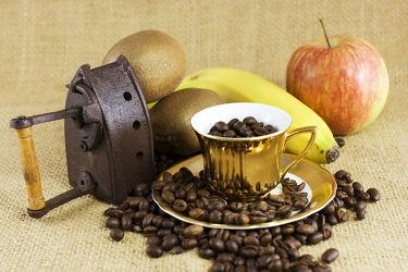 Bild mit Küchenbild, Küchenbild, Küchenbilder, Küchenbilder, kaffeebohne, kaffeebohnen, kaffeetasse, kaffeetassen, Küche, Küche, Bauernfrühstück, Bohnenkaffee, Küchenwandbild