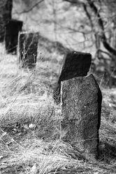 Bild mit Stein, Wege, Weg, Steine, schwarz weiß, SW