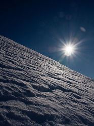Sonne in den Bergen