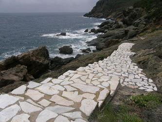 Marmortreppe zum Meer