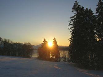 Sonnenuntergang am Grüntensee