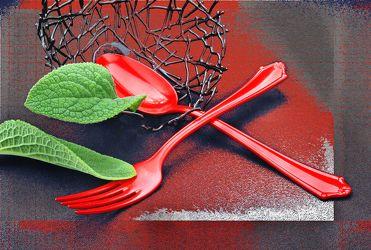 Bild mit Essen, Blätter, Küchenbild, Nahrung, Blatt, Stilleben, Küchenbilder, Textur, Ernährung, Küche, Küche, Löffel, Esszimmer, kochen, besteck, gabel, obstschale, bestecke, gourmet