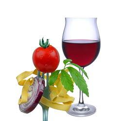 Bild mit Trinken, Kräuter, Nudeln, Tomaten, Wein, getränk, Zwiebel, rotwein, rotweinglas
