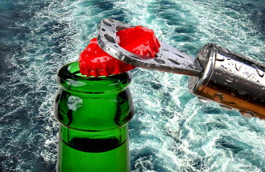 Bild mit Wasser, Trinken, Küchenbild, Flasche, Wassertropfen, Bär, Küchenbilder, frisch, getränk, Küche, wasserflasche, kronkorken