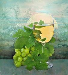 Bild mit Früchte, Trinken, Obst, Weintrauben, Stilleben, Wein, getränk, weinglas, weißwein, weinblätter, weinlaub