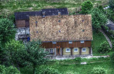 Bild mit Fachwerkhäuser