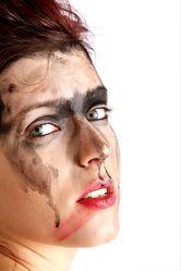 Bild mit Kunst, portraits, art, Frau, Frauen, make up, Mädchen, schminke, body art