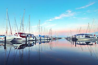 Yachthafen Grömitz am Morgen