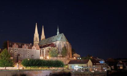Blick auf die Peterskirche in Görlitz