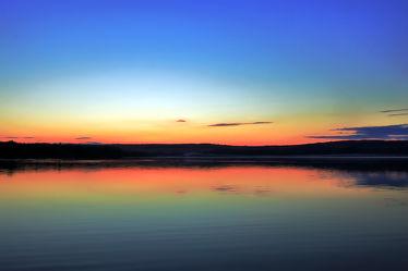 Bild mit Natur, Sonnenuntergang, Sonnenaufgang, Panorama, Landschaft, Sunset, Seeblick, See, Berzdorfer See, Seepanorama