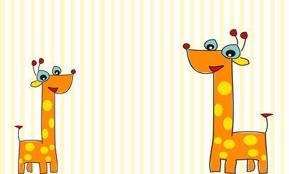 Bild mit Giraffen, Illustration, Kinderbild, Kinderbilder, Kinderzimmer, Kinderwelt, Giraffe, Babyzimmer