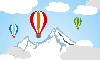 Kinderwelt Heißluftballon & Berge